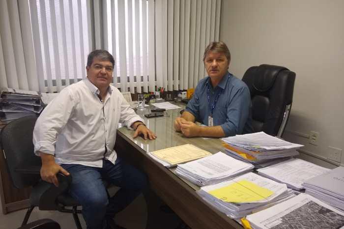 Vereador tem reunião na Cagepa para tratar do início da obra de esgotamento de S. J. do Cariri