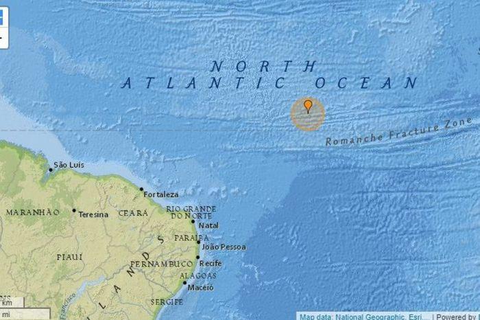 Terremoto de magnitude 5.8 é registrado no oceano a 1.191km de JP