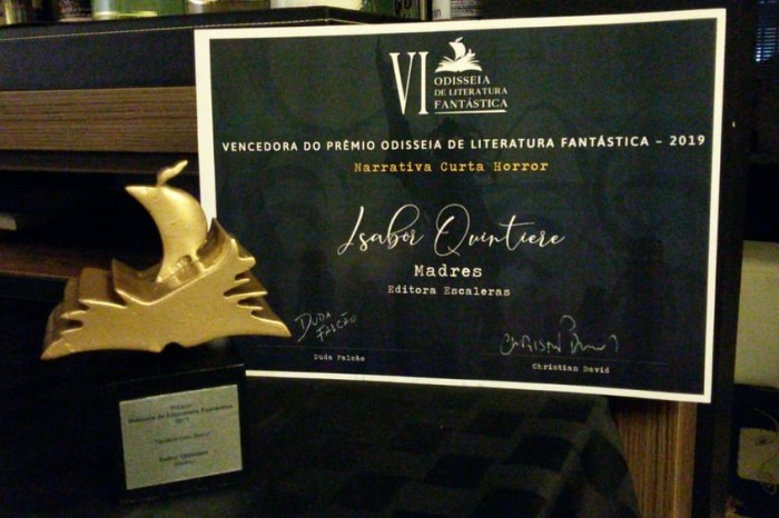 Escritora paraibana ganha prêmio nacional de literatura fantástica