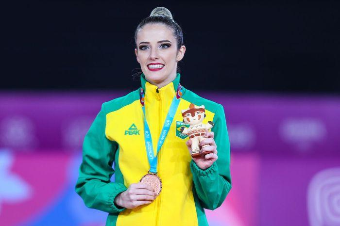 Ginasta Natália Gaudio conquista o bronze no Pan-Americano