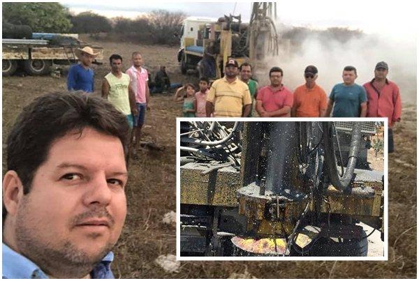 Prefeitura e Governo do Estado realizam perfuração de poços em Ouro Velho