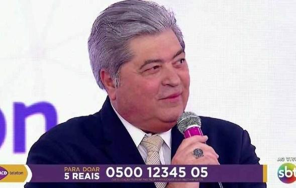"""Datena reclama ao vivo de atraso do Teleton 2019: """"Tô cansado"""""""