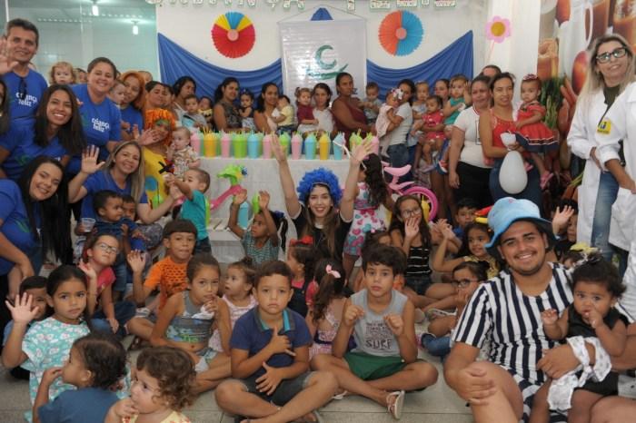 """Famílias inscritas no programa """"Criança Feliz"""" comemoram dia das crianças em Monteiro"""