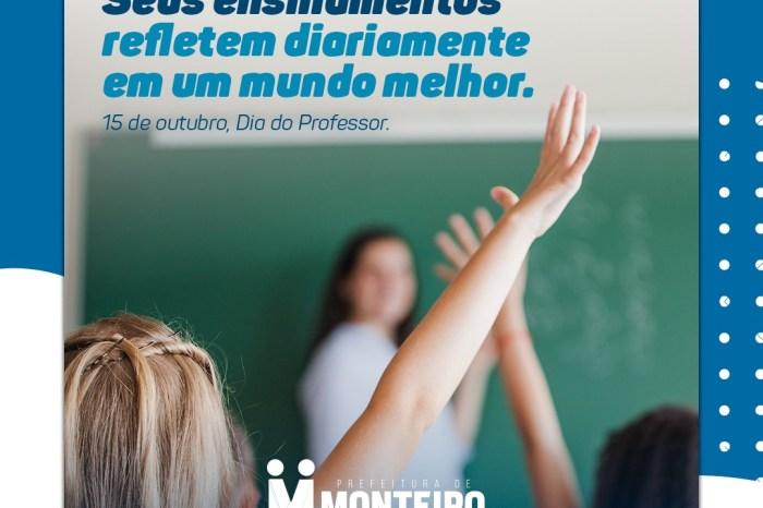 Prefeita Anna Lorena emite nota parabenizando os professores monteirenses pelo seu dia