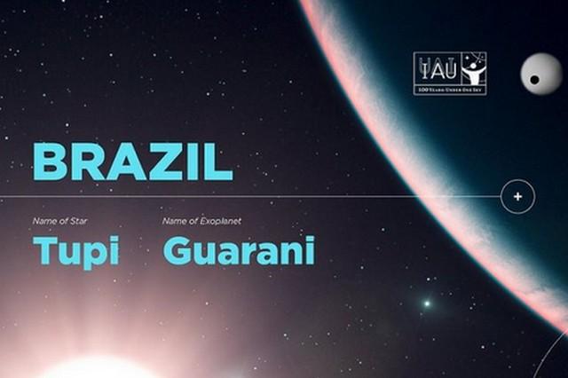 Planeta e estrela são batizados de Guarani e Tupi