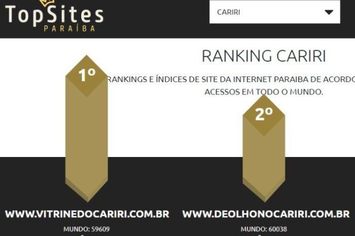 SEGUE O LÍDER: VITRINE DO CARIRI é o portal mais acessado na região do Cariri