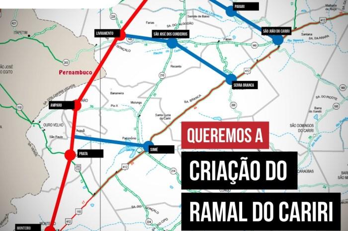 Deputado Estadual Moacir Rodrigues apresenta Projeto do Ramal do Cariri na ALPB