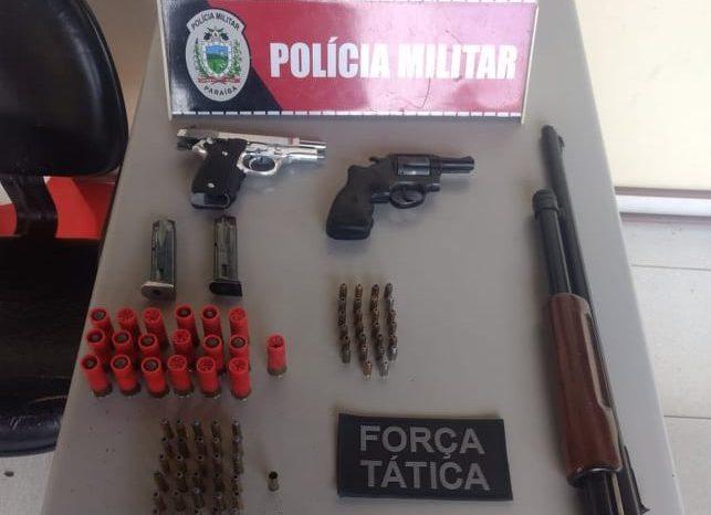 Polícia detém três homens e apreende armas de fogo no Cariri