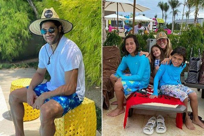 """Ex de Hulk curte férias no Caribe com filhos: """"Que seja nós quatro"""""""