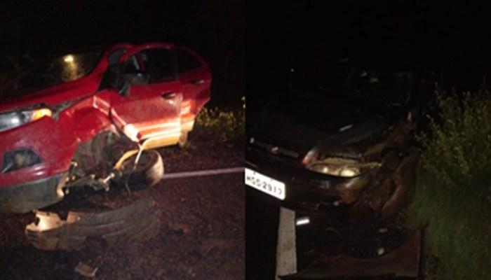 Cantor fica ferido após colisão entre dois carros no Cariri paraibano