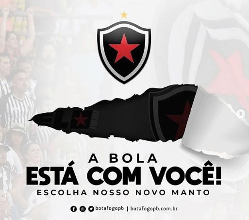 Botafogo-PB abre votação para a escolha de terceiro uniforme