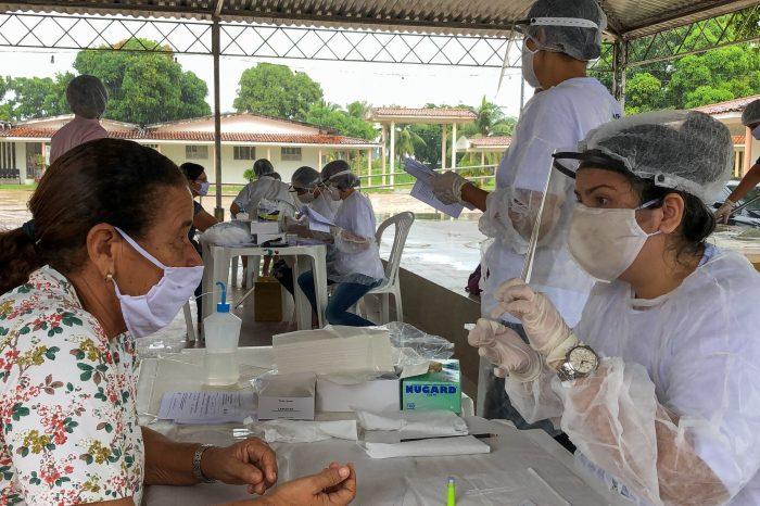 Estado faz teste rápido para coronavírus em lares para idosos