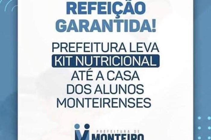 Secretaria de Educação de Monteiro distribui kits nutricionais em escolas municipais