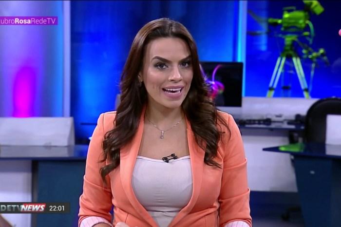 Apresentadora da Rede TV, Gabriela Di França manda beijos pro Luciano D10