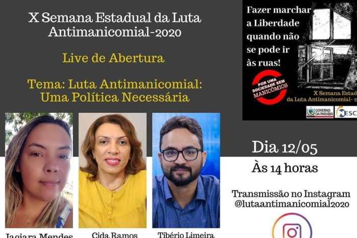 X Semana Estadual da Luta Antimanicomial terá programação virtual pelo Instagram