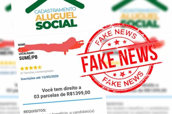 Fake News: Mensagem que circula no whatsApp oferecendo auxílio aluguel é falsa