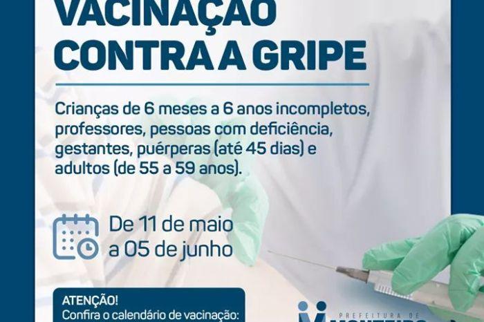 Monteiro: Secretaria da Saúde dá início a 3ª etapa da vacinação contra a gripe