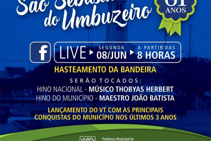 São Sebastião do Umbuzeiro realizará programação especial em homenagem aos 61 anos do município
