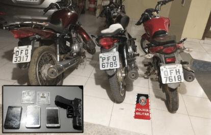 Polícia Militar prende assaltantes e recupera motocicletas roubadas em Monteiro