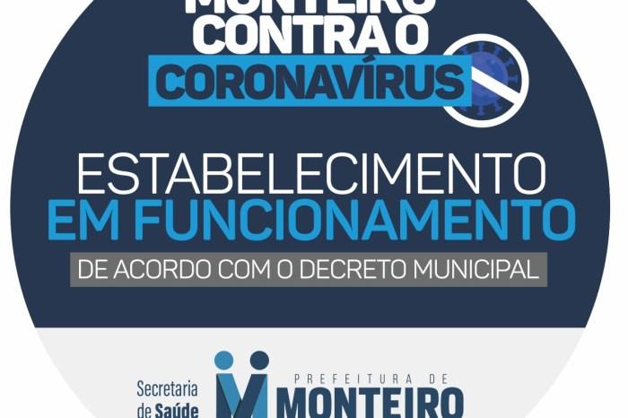 Monteiro segue diretrizes do decreto estadual para comemorações de fim de ano