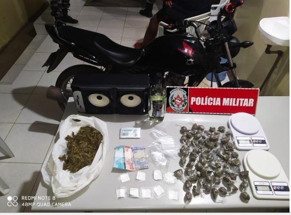 PM prende mulher por crime de tráfico de entorpecentes em Monteiro