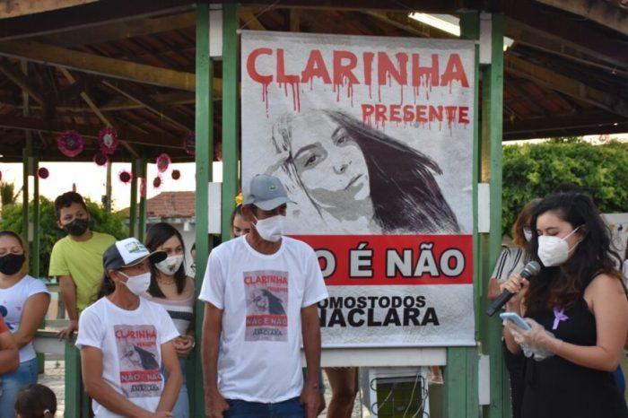 """Movimento """"CLARINHA PRESENTE"""" pede respeito e o fim da violência contra a mulher"""