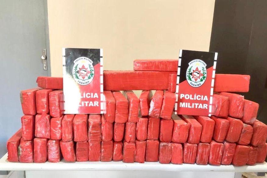 Operação policial termina com a apreensão de 56 kg de maconha na PB