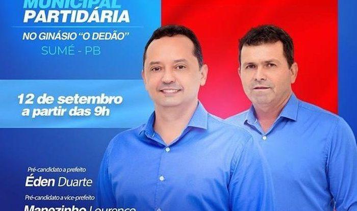 ELEIÇÕES 2020: Éden Duarte usa redes sociais, anuncia vice e data da convenção
