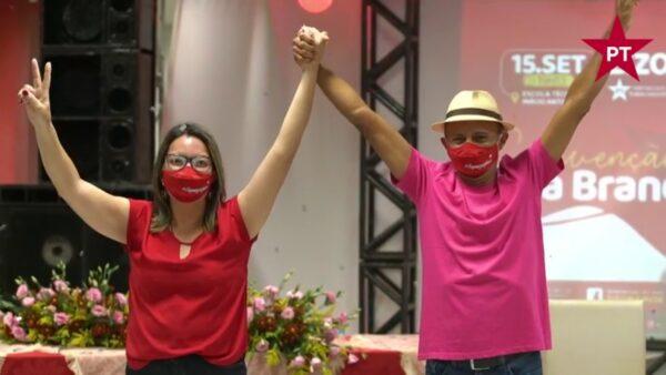 Em convenção, PT de Serra Branca anuncia Cristina França como vice de Zizo Mamede