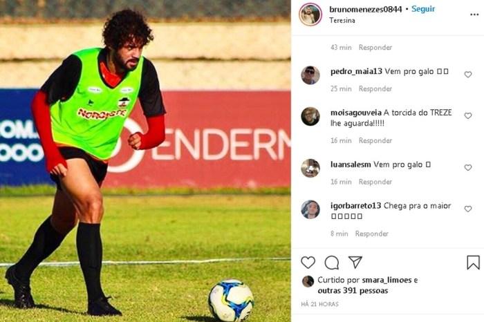 Belo desiste de contratação de Bruno Menezes, que fica sem clube