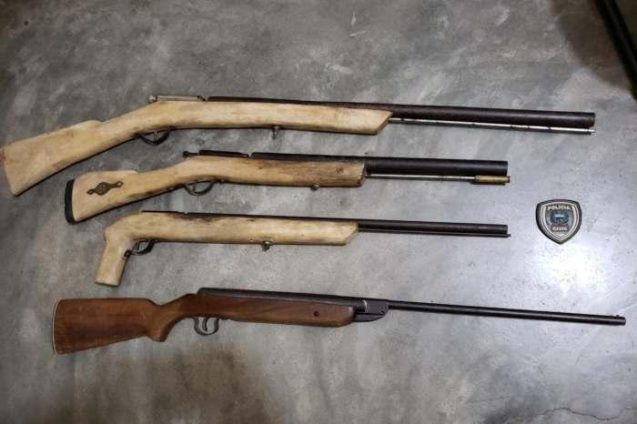 Polícia Civil apreende armas de fogo em cidade do Cariri