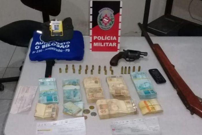 Polícia Militar recupera mais de R$ 40 mil roubados de posto de combustível, em Juazerinho