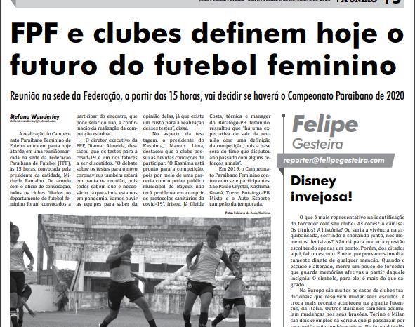 Atletas do futebol feminino profissional de Monteiro são destaque no Jornal A União