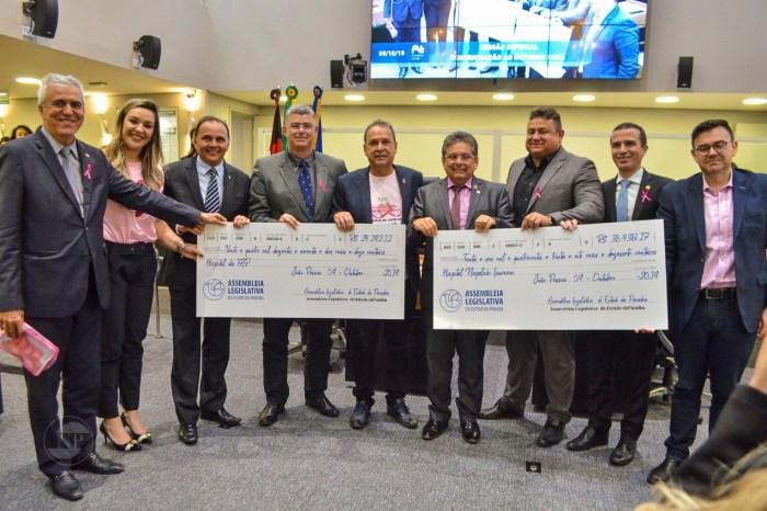 Em um ano, ALPB doa R$ 650 mil para hospitais que tratam do câncer na Paraíba