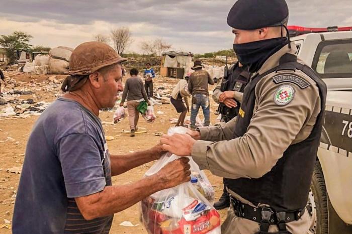 Polícia Militar promove doações para famílias carentes no Cariri