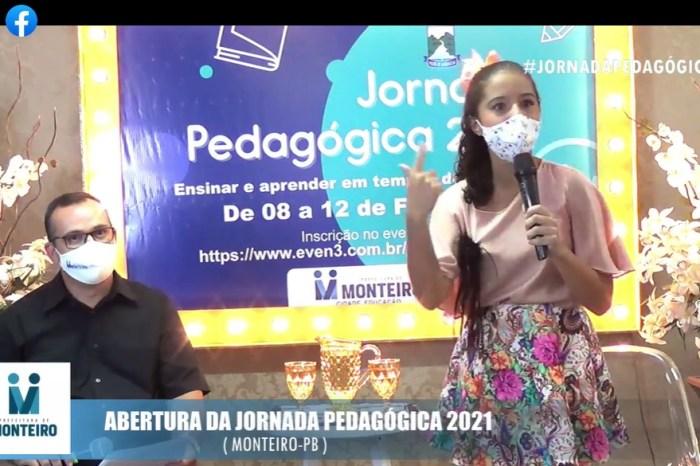 Jornada Pedagógica de Monteiro é aberta virtualmente com programação cultural