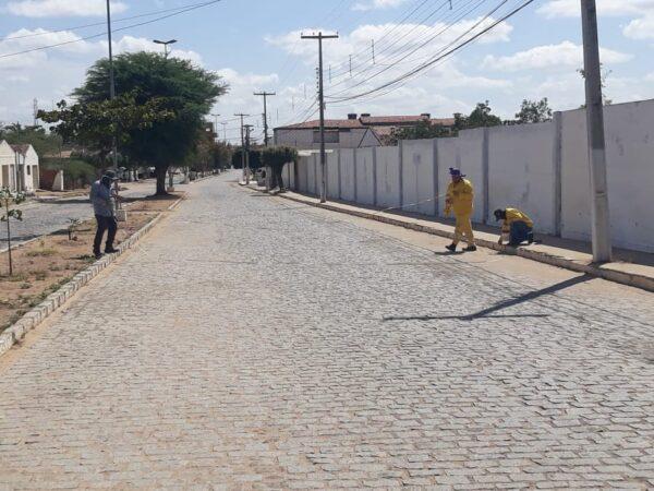 DER inicia topografia em Serra Branca e prefeito solicitará nova pavimentação ao Estado