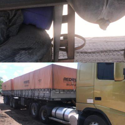MOÍDOS DA REDAÇÃO: Bandidos furtam Botijão de Gás de carreta em Monteiro
