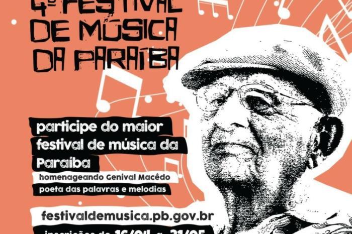 Abertas as inscrições para o 4º Festival de Música da Paraíba