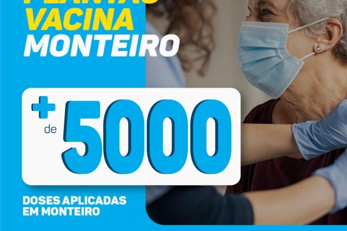 COVID-19: Município de Monteiro já vacinou mais de 5 mil pessoas