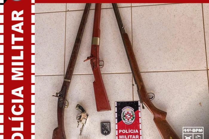 11° Batalhão apreende 04 armas de fogo no município da Prata