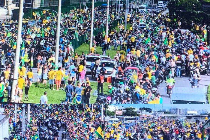 MOÍDOS DA REDAÇÃO: Guiado por multidão de apoiadores, Bolsonaro faz passeio de moto no Rio de Janeiro