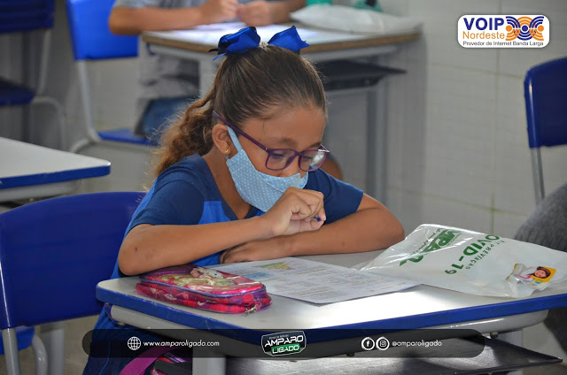 Secretaria de educação de Amparo aplicou prova do programa Integra Educação PB para alunos do 1º ao 5º ano