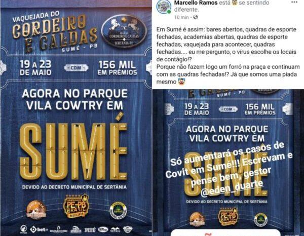Proibida de acontecer em Pernambuco, vaquejada de Sertânia é transferida para parque Vila Cowtry em Sumé e causa revolta