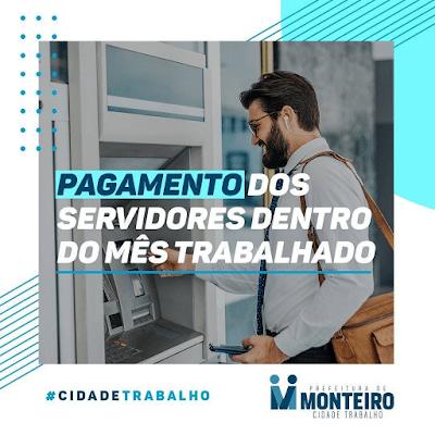 Prefeitura de Monteiro inicia pagamento do funcionalismo do mês de maio nesta quinta-feira