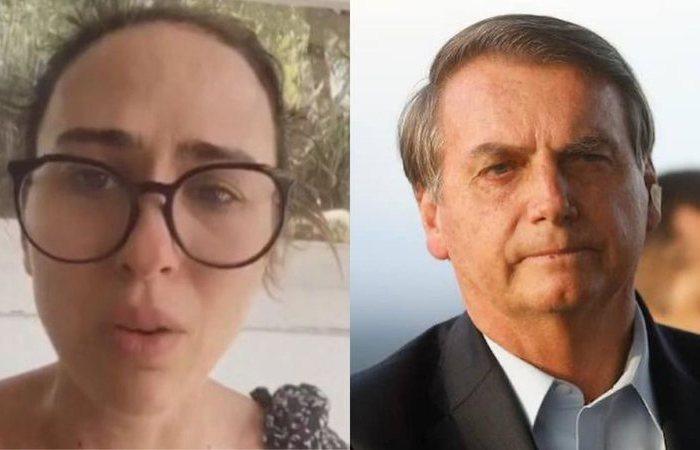 """Em luto por Paulo Gustavo, Tatá Werneck detona aglomeração promovida por Bolsonaro: """"Meu deus"""""""