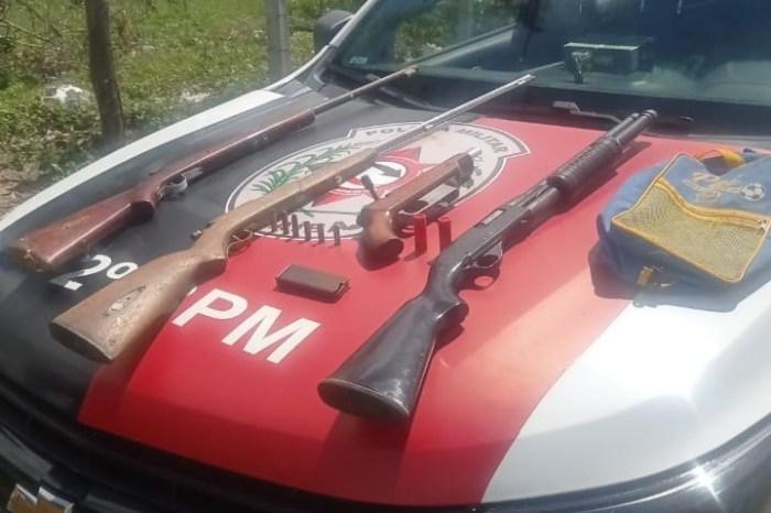 Polícia apreende cinco armas de fogo em Campina Grande