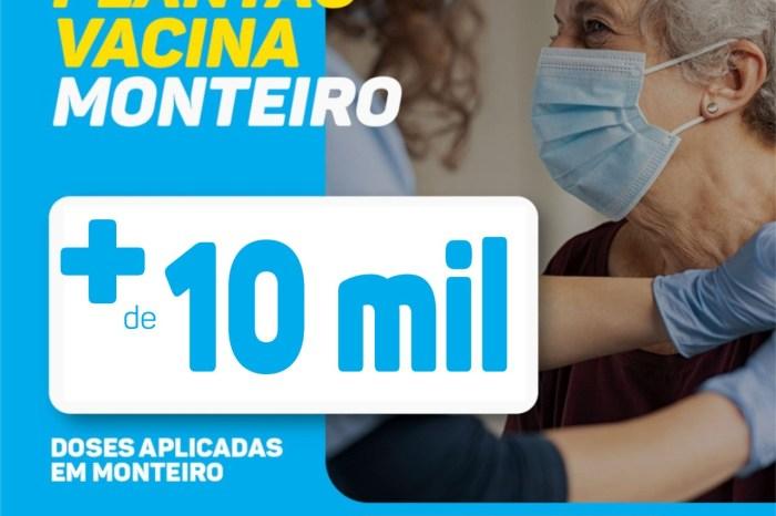 Vacinação: Secretaria de Saúde de Monteiro chega a marca de 10 mil pessoas vacinadas