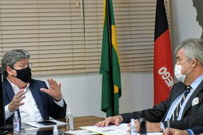 João Azevêdo apresenta oportunidades de negócios e discute parcerias com Cônsul da Alemanha
