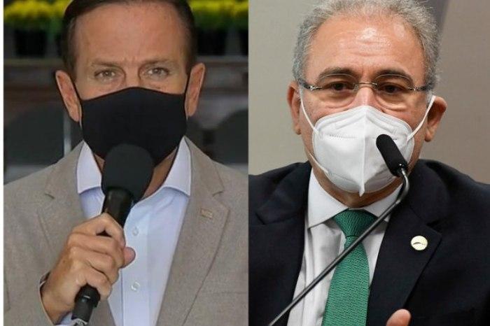 Doria e Queiroga trocam acusações sobre vacina contra Covid em rede social